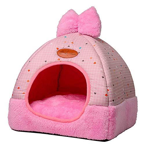YJYdada Pet Dog Cat Tent House Kennel Winter Warm Nest Soft Foldable Sleeping Mat Pad (B) ()