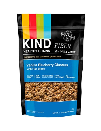 KIND Здоровые Зерновые Кластеры, ваниль Blueberry с семян льна, 11-унция сумки, 3 графа, разочарование упаковка без