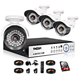 TMEZON 4 Channel 1080P AHD Security Cameras System w/4x HD 2.0MP Day Night vision Indoor/Outdoor CCTV surveillance Camera Quick Remote Access Setup Free App Including 2TB HDD Review