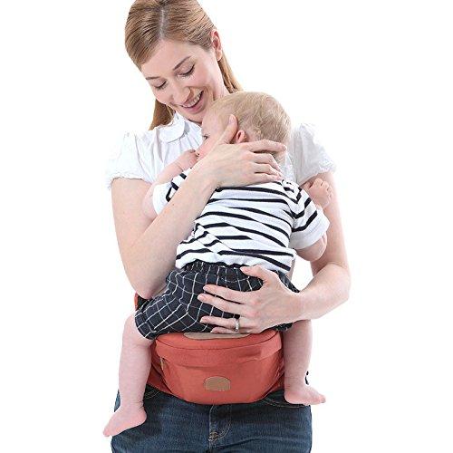ThreeH Porte-bébé Ceinture de taille porte-sièges extérieur pour enfant BC10, Pink H-BC10Pink
