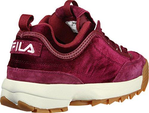 Velvet Schuhe V Low Disruptor Neu Sneaker Fila Red Damen U8qwtOvn