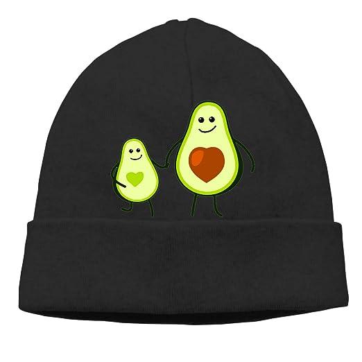Avocado Kid and Mom Beanie Hat Classic Toboggan Hat Winter Hats Skull Cap  Beanies for Men ac10d1d010c3