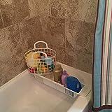 PER Adjustable Bath Toy Rack Organizer Basket Shower Caddy Holder for Bathtub Bathroom Baby Bathing Toys Storage