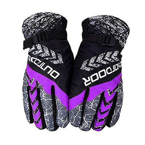 Winter Warm Gloves Windproof Cold Plus Velvet Thickening Gloves Outdoor Sports Riding Motorcycle Ski Gloves