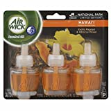 Air Wick Scented Oil Air Freshener, National Park Collection, Hawaii Scent, Triple Refills, 0.67 Ounce (1 Pack Of 3 Refills)