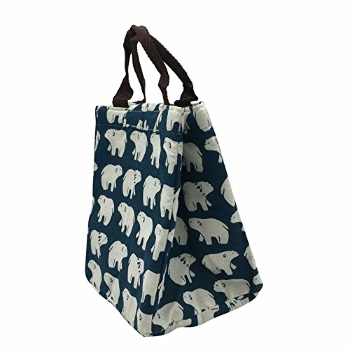 woosal-reusable-fold-over-insulated-lunch-bag-with-handles-and-velcro-closure-soft-bento-tote-cooler