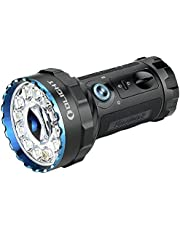 Olight® Marauder 2 LED Flashlight 14,000-lumen Super Powerful Rechargeable Searchlight of Three 3.6V 5000mAh 21700 Batteries with Floodlight and 800-meter Spotlight for Outdoors