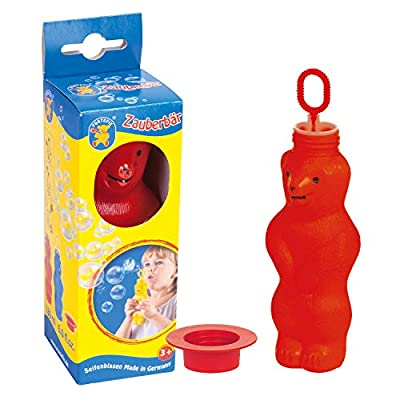 PUSTEFIX Bubble Bear 6 oz Bubble Blowing Squeeze to Blow Toy for Kids (Assorted Colors): Toys & Games