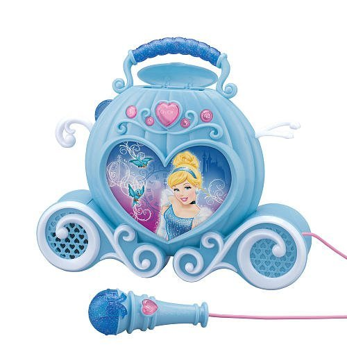 Enchanting Sing-Along MP3 Boombox - Cinderella (Mp3 PLAYER IS NOT INCLUDED) - BOOMBOX WILL PLAY YOUR OWN MP3 PLAYER THAT YOU ATTACH by eKids (Image #1)
