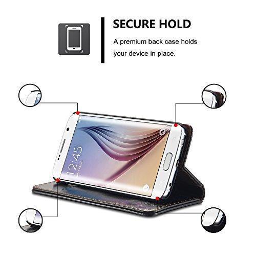 GR Para Samsung Galaxy A3 2016 A310 PU Cartera de cuero Diseño magnéticoLuxury Business Style Color sólido Flip Premium Folio Funda protectora con Ranura para tarjeta / Soporte ( Color : Red ) Black