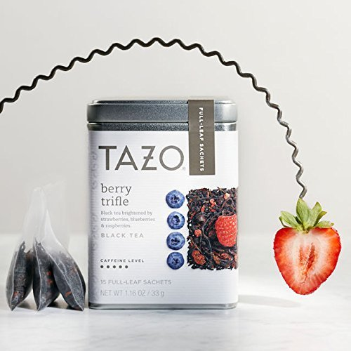 Tazo Berry Trifle, Full Leaf Black Tea, 1 Pack of 15 Full-Leaf Sachets - Full Leaf Tazo Tea