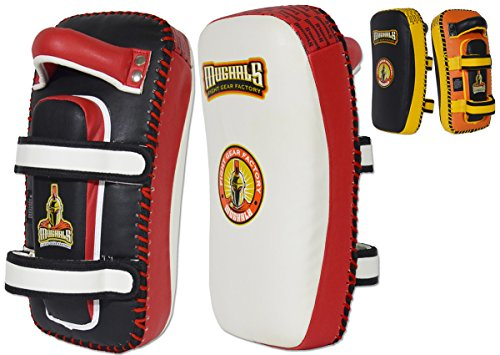 MUGHALS Elite Curved Thai Pad (Red/Black)