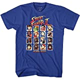 Street Fighter Video Martial Arts Arcade Game Player Select Adult T-Shirt Tee Blue