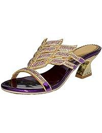 LizForm Women Sandal Low Chunky Heel Comfort Wedding Prom Party Sandal Heels