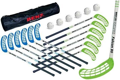 Floorball Schl/äger Level 3 Falcon f/ür Schulsport und Freizeit Original Benz Sport/® Universell-beidseitige Schaufel Unihockey Floorball Stick