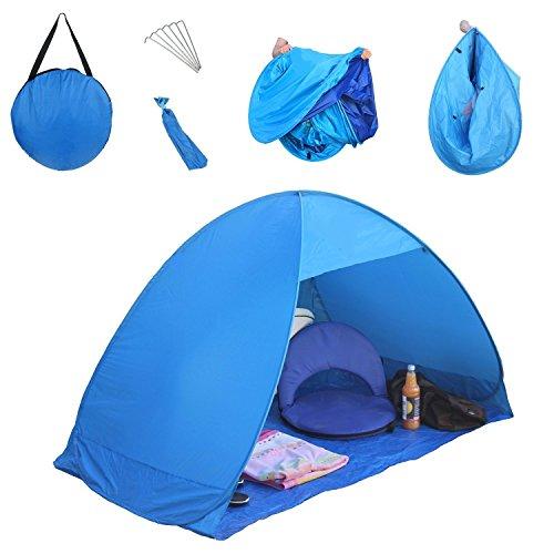 LingAo-Automatic-Pop-Up-Instant-Portable-Outdoors-Quick-Cabana-Beach-Tent-Sun-Shelter-Blue