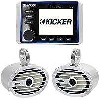 KICKER KMC10 Marine Digital Media Receiver+Bluetooth/USB+(2) MB Quart Wakeboards