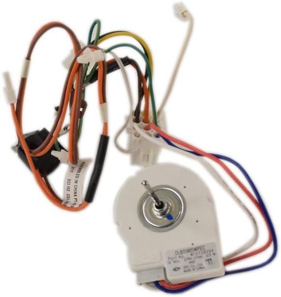 Whirlpool W11032800 Refrigerator Evaporator Fan Motor Assembly Genuine Original Equipment Manufacturer (OEM) Part