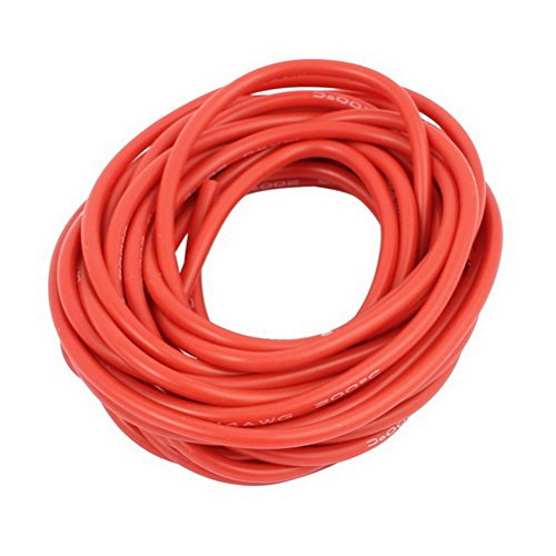 15Ft 14AWG Red Gauge Flexible Stranded Copper Cable Silicone Wire for RC by Ugtell