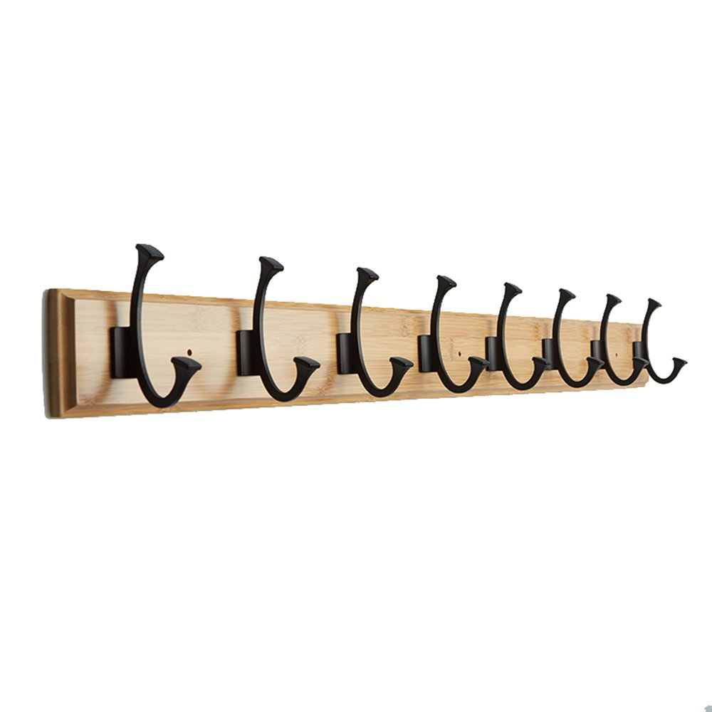 American-style wall-mounted coat hooks / living room double-layer hangers / wall hooks / wall coat hat rack / 4,5,6,7,8 hangers /(48.4/61.2/74cm/86.8/99.68.51.5cm) ( Size : 99.6cm )