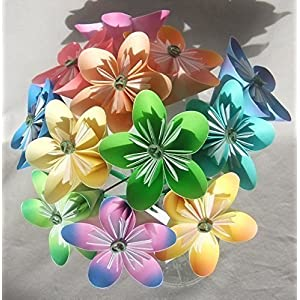 Pastel Origami Flower Bouquet 35