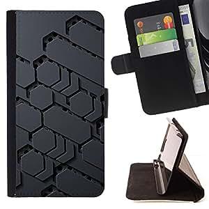 For Samsung Galaxy S5 Mini (Not S5), SM-G800 Case , Modelo de Ciencia Ficción Extranjero Gris Pc Gamer- la tarjeta de Crédito Slots PU Funda de cuero Monedero caso cubierta de piel