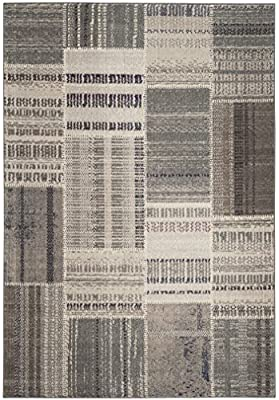 Safavieh Monaco Collection MNC215F Modern Geometric Patchwork Multicolored Distressed Area Rug