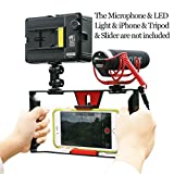 Smartphone Video Rig, iPhone Filmmaking Recording Vlogging Rig Case ,Phone Movies Mount Stabilizer for Mobile Phone Videomaker Film-maker Videographer for iPhone 7 Plus Sumsang