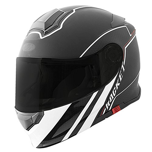 Casco Joe Rocket Rkt 18 Series Negro Blanco Abatible Moto Talla L