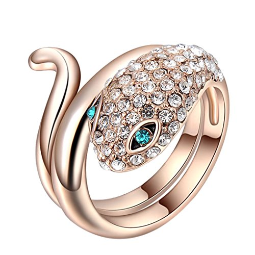 Duo La Creative Exaggeration Snake-shape Personality Women Ring Size 8 US