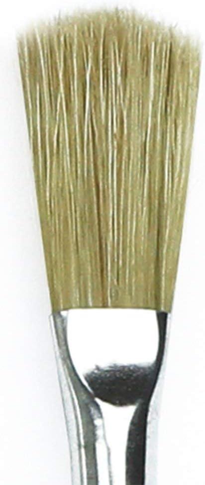 116-18 Domed Flat Hog Bristle with Plainwood Handle da Vinci Student Series 116 Utility Brush Size 18