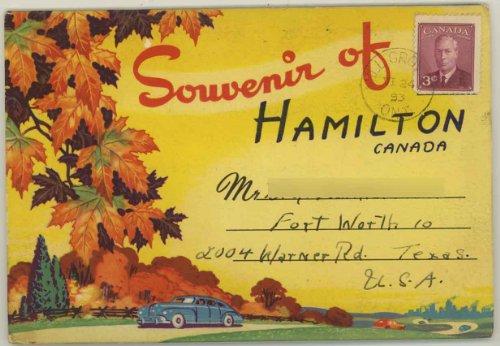 (Hamilton Ontario Canada (1950's Souvenir Postcard Folder) )