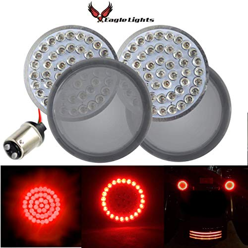 Eagle Lights Rear LED Turn Signals For Harley Davidson (Rear (1157) Turn Signals, Add Smoked - Turn Stay Signal Rear