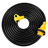 Lavotla RV Extension Power Cord 25FT - 30 AMP Male to 30 AMP Female Twist Locking Adapter - Heavy Duty & Weatherproof Electrical Camper Trailer Marine Boat Shore Cable - 10/3, STW Molded Connector