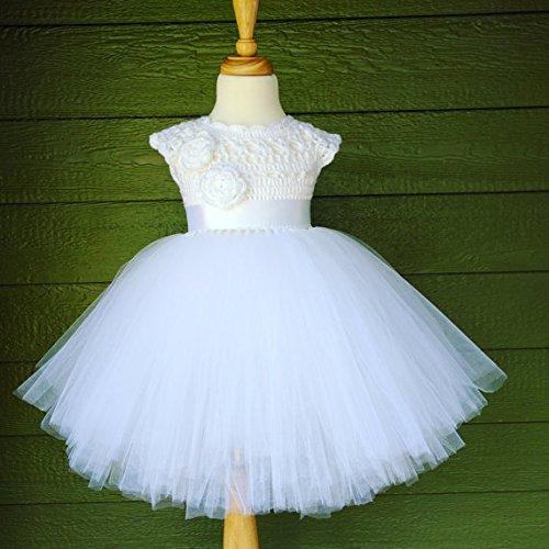 510c3d708dd Amazon.com  Handmade Princess Floor-length White Flower Girl Dress -Size 2T