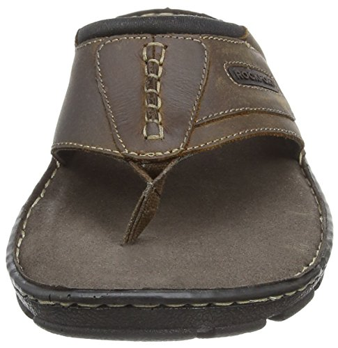 Tongs H80301 brown Marron Homme Rockport wYHqFZx