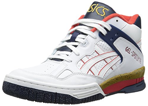 ASICS Men's Gel Spotlyte Fashion Sneaker,White/White,9.5 M US
