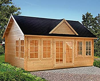 Allwood Claudia is a cottage style kit cabin made from high quality Nordic wood. With 209 inside sqf., it provides 86 sqf. more floor area than it's smaller sister model Chloe. This cabin is ideal as pool house, family guest house, separate home offi...