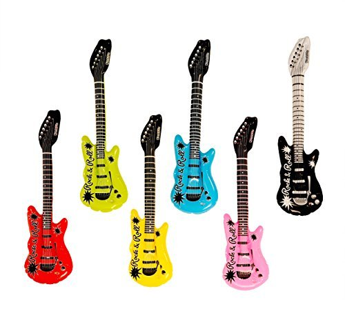 Kangaroo's Inflatable Rock 'N Roll Electric Guitars, (Rock Guitar Inflate)