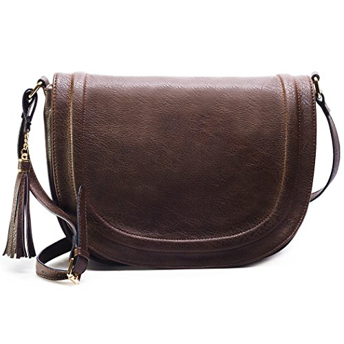 Large Shoulder Crossbody Saddle Tassel product image