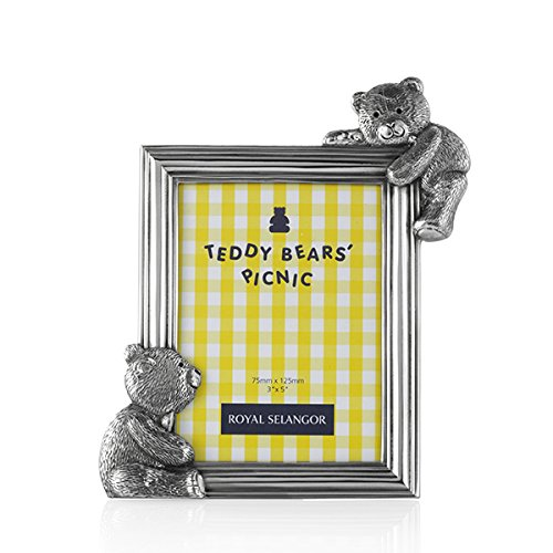 (Royal Selangor Hand Finished Teddy Bear's Picnic Collection Pewter Rectangular Photo Frame)