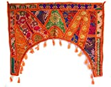 MoonNewyork Gypsy Bohemian Tribal Red Door Hanging Feng Shui Patchwork Window Wall Decor