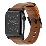 Nomad Leather 42mm Black Case for Apple Watch