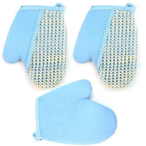 3 PC Exfoliating Bath Body Glove Spa Sponge Loofah Loofa Sisal Scrubber Shower by ATB
