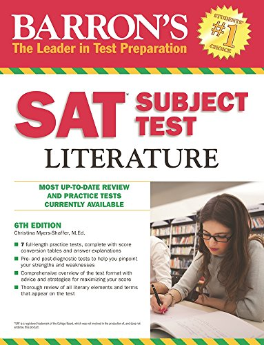 Barron's SAT Subject Test Literature, 6th Edition cover