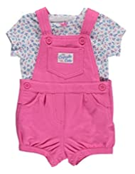 Carters Baby Girls 2-Piece Tee & Shortalls Set Floral Pink 3M by Carter's