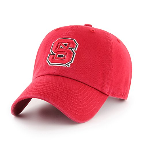 Nc State Wolfpack Baseball - OTS NCAA North Carolina State Wolfpack Challenger Clean Up Adjustable Hat, Red, One Size