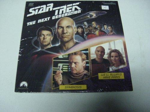 Star Trek The Next Generation Laserdisc Episodes #23 & 24 Symbiosis & We'll Always Have Paris with Patrick Stewart, Frakes, Levar Burton, Michael Dorn, Brent Spiner.