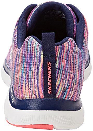 Skechers Flex Appeal 2.0-Reflection, Baskets Femme Multicolore (Navy/multicolour)