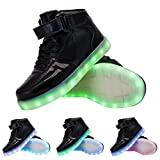 TUTUYU Kids 11 Colors LED Light Up Shoes High Top